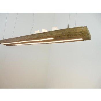 Lampe LED suspension bois poutres antiques ~ 115 cm