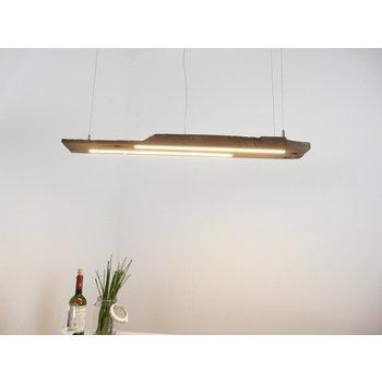 Lampe LED suspension bois poutres antiques ~ 101 cm