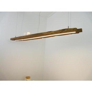 Lampe à Led suspension bois poutres antiques ~ 132 cm