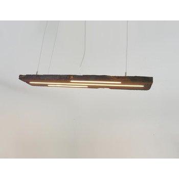 Lampe LED suspension bois poutres antiques ~ 103 cm