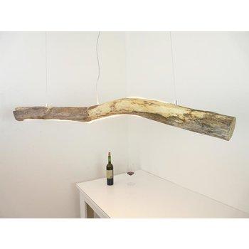Lampe LED en bois flotté avec éclairage supérieur et inférieur ~ 165 cm