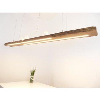 grande lampe suspendue en poutres anciennes ~ 198 cm