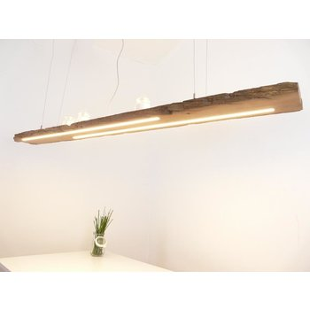 large hanging lamp made of antique beams ~ 198 cm