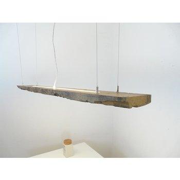 lampe suspendue Led massive faite de poutres antiques ~ 142 cm
