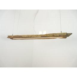 Lampe suspendue ED poutres antiques en bois avec lumière supérieure et inférieure ~ 117 cm
