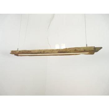 Lampe LED suspension bois poutres antiques ~ 117 cm