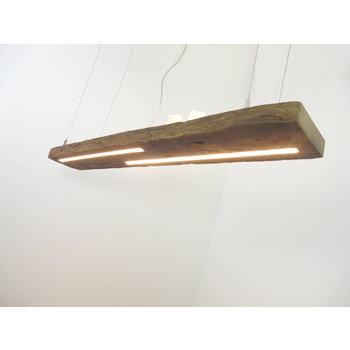 ED Hängelampe Holz antik Balken mit Ober- Unterlicht ~ 112 cm