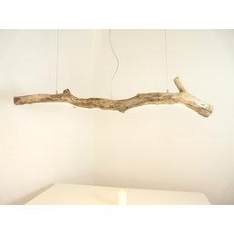 Lampe suspendue LED bois flotté ~ 155 cm