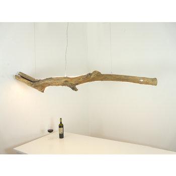XL LED Treibholzlampe mit Ober- Unterlicht ~ 198 cm