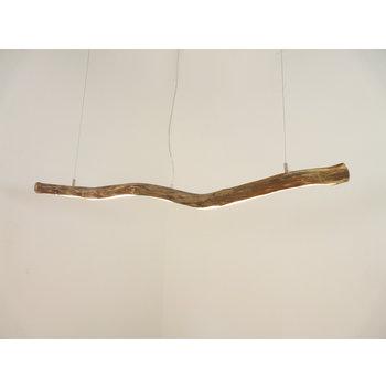 Lampe suspendue LED bois flotté ~ 119 cm