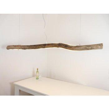 Lampe XL LED en bois flotté avec éclairage supérieur et inférieur ~ 199 cm