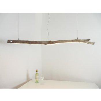 Lampe suspendue LED bois flotté ~ 147 cm