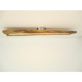 Lampe LED plafonnier bois poutres antiques ~ 94 cm