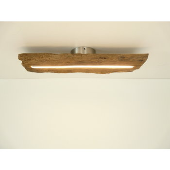 Lampe LED plafonnier bois poutres antiques ~ 54 cm