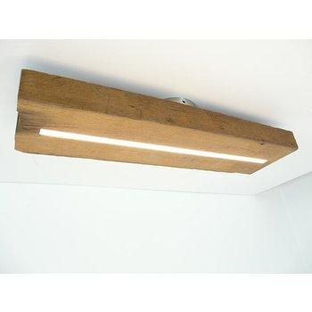 Lampe LED plafonnier bois poutres antiques ~ 61 cm