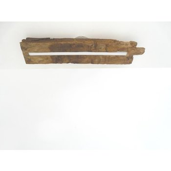 Lampe LED plafonnier bois poutres antiques ~ 63 cm