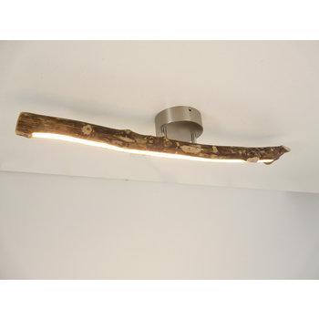 Lampe LED plafonnier bois flotté ~ 71 cm