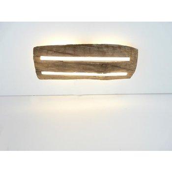Plafonnier en bois ancien avec éclairage indirect ~ 52 cm