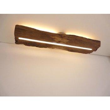 Deckenleuchte Holz antik mit indirekter Beleuchtung ~ 77 cm