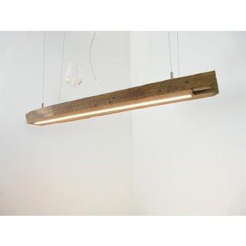 Lampe LED suspension bois poutres antiques ~ 98 cm