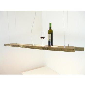 Lampe suspendue en poutres anciennes ~ 137 cm