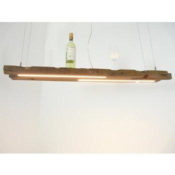 Lampe LED suspension bois poutres antiques ~ 120 cm