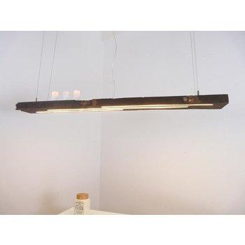 Lampe LED suspension bois poutres antiques ~ 144 cm