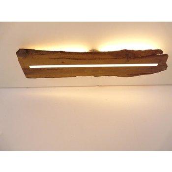 Deckenleuchte Holz antik mit indirekter Beleuchtung ~ 86 cm
