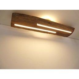 Deckenleuchte Holz antik mit indirekter Beleuchtung ~ 80 cm