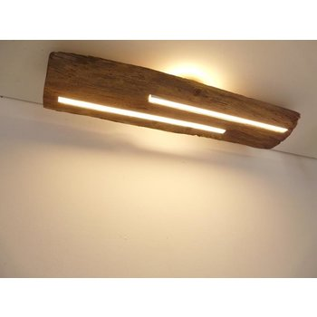 Antique wood ceiling lamp with indirect lighting ~ 80 cm