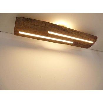 Plafonnier en bois ancien avec éclairage indirect ~ 80 cm