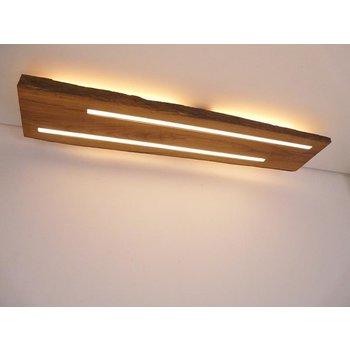 Plafonnier ancien en bois avec éclairage indirect ~ 91 cm