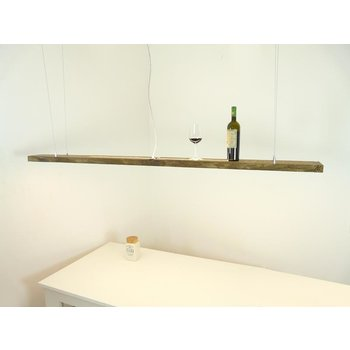 large hanging lamp made of antique beams ~ 199 cm