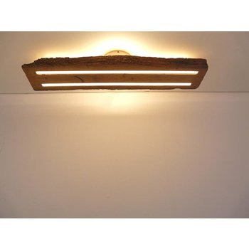 Antique wood ceiling lamp with indirect lighting ~ 78 cm