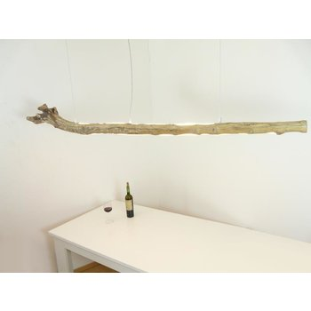 large LED driftwood lamp with top and bottom light ~ 196 cm