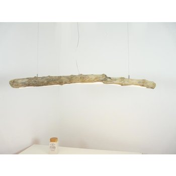 Lampe suspendue LED bois flotté ~ 138 cm