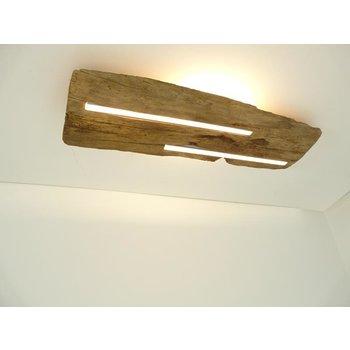Plafonnier ancien en bois avec éclairage indirect ~ 68 cm
