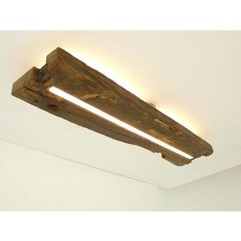 Plafonnier en bois ancien avec éclairage indirect ~ 78 cm