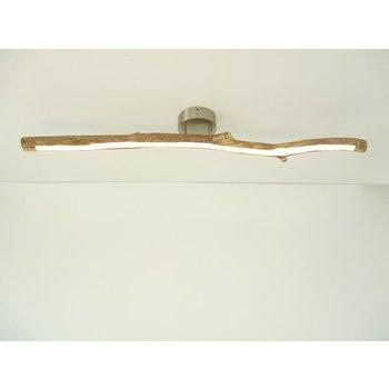 plafonnier LED étroit bois flotté ~ 100 cm
