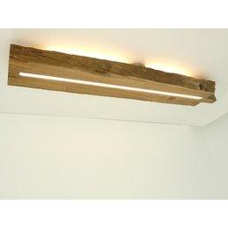 Deckenleuchte Holz antik mit indirekter Beleuchtung ~ 98 cm
