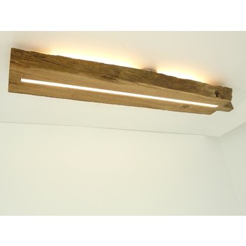 Antique wood ceiling lamp with indirect lighting ~ 98 cm