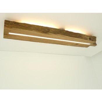 Plafonnier en bois ancien avec éclairage indirect ~ 98 cm
