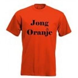 Jong oranje!. Keuze uit T-shirt of Polo en div. kleuren. S t/m 8 XL