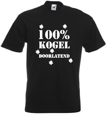 100 procent kogel doorlatend . Keuze uit T-shirt of Polo en div. kleuren. S t/m 8 XL