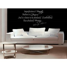 Marilyn Monroe quote. Imperfection in beauty madness is genius muursticker