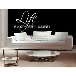 Life is a wonderful journey muursticker