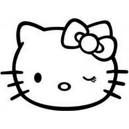 Hello kitty hoofd knipoogje