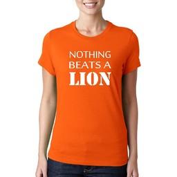 Nothing beats a lion. dames WK T-shirt.