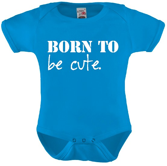 Born to be cute. Rompertje in div kleuren en maat 56 t/m 92.