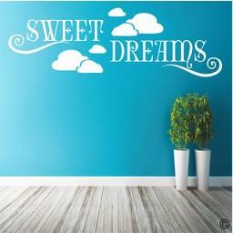 Sweet dreams in de wolken muursticker